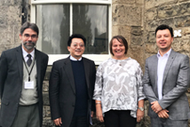 2018-09-08_TFD Attends AHRI Annual Conference and Visits Partners in the U.K._From left to right: TFD Director Tedards, President Liao,   Scottish Human Rights Commission Chair Judith Robertson, SHRC Policy Officer Diego Quiroz