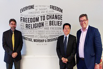 2018-09-08_TFD Attends AHRI Annual Conference and Visits Partners in the U.K._ From right to left: CSW East Asia Team Leader Ben Rogers; ,   TFD President Liao, Director Tedards