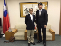 TFD President Szu-chien Hsu meeting with Taipei Economic and Cultural Office in Osaka Director-General Jen-Joe Chang.