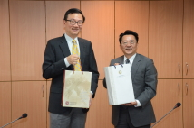 2019/06/18_Signing of the MOU with the Institute of Political Science at Academia Sinica_Token exchange