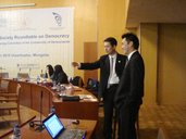 TFD delegates attending Council for a Community for Democracies Mongolia Roundtable Meeting